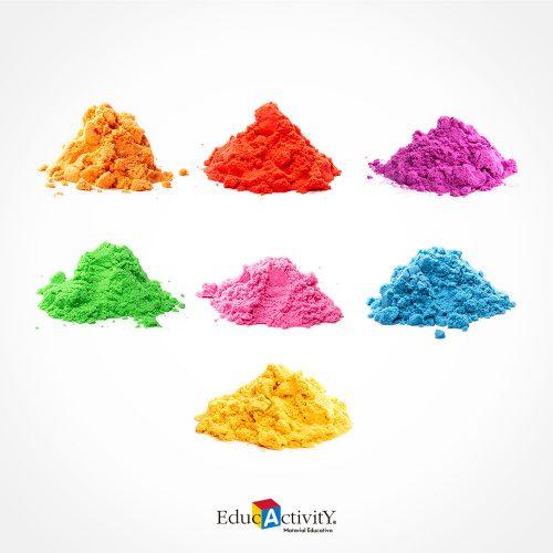 Cubeta con Arena Moldeable 500grs Colores
