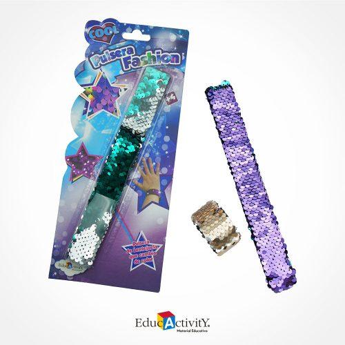 Pulsera Fashion de Lentejuelas Bicolor - Educactivity - Juguetes y Materiales Educativos