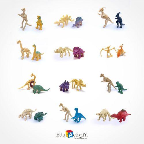 Dinosaurios Jurassic 3D Kit de Excavación Esqueleto 3D - Educactivity - Juguetes y Materiales Educativos