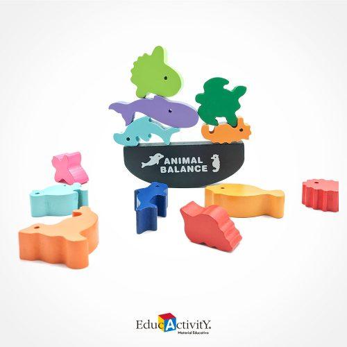 Juego de Madera Balance de Animalitos - Educactivity, Juguetes y Materiales Educativos